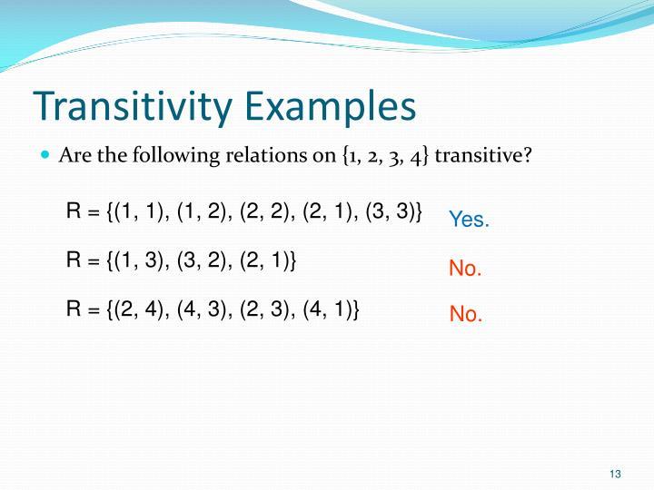 Transitivity Examples