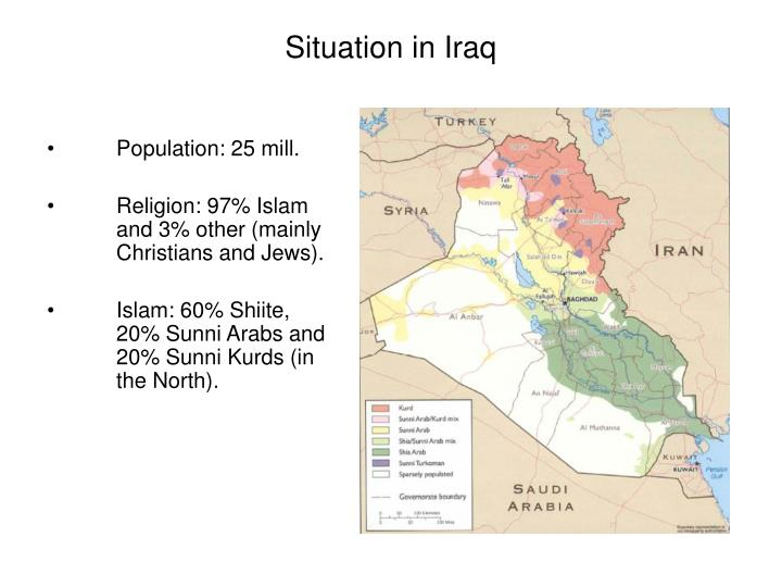 Situation in iraq