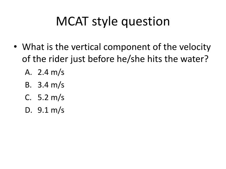 MCAT style question