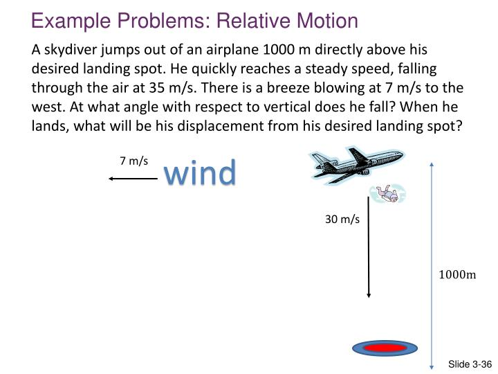 Example Problems: Relative Motion