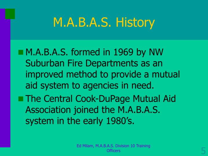 M.A.B.A.S. History
