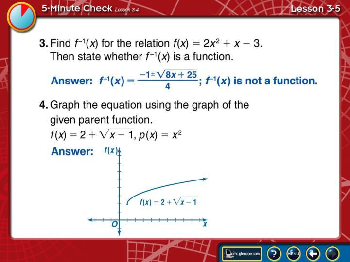 5-Minute Check Lesson 3-5B