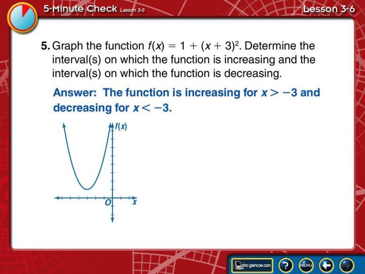 5-Minute Check Lesson 3-6B
