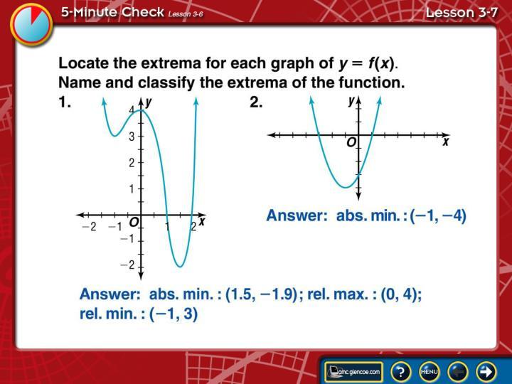5-Minute Check Lesson 3-7A