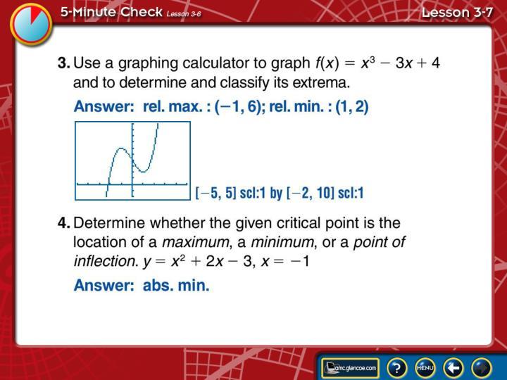 5-Minute Check Lesson 3-7B