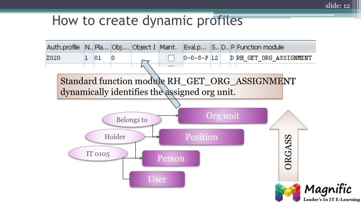 How to create dynamic profiles