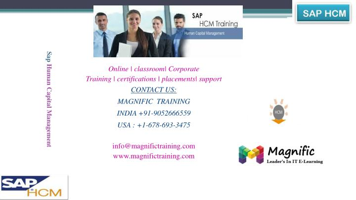 Sap hcm online and remote based training in usa uk india canada