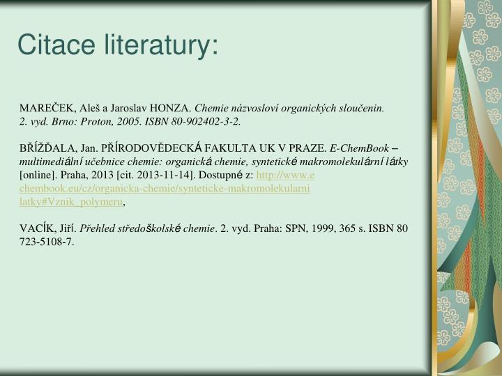 Citace literatury: