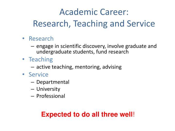 Academic Career: