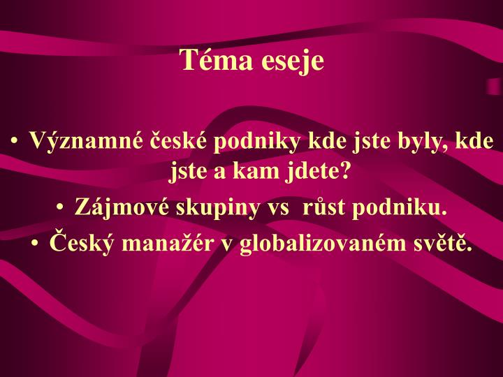 Téma eseje