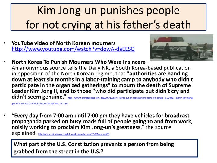 Kim Jong-un punishes people