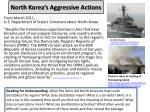 north korea s aggressive actions