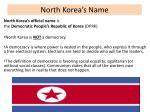 north korea s name