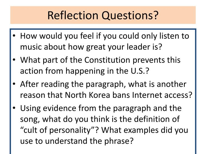 Reflection Questions?