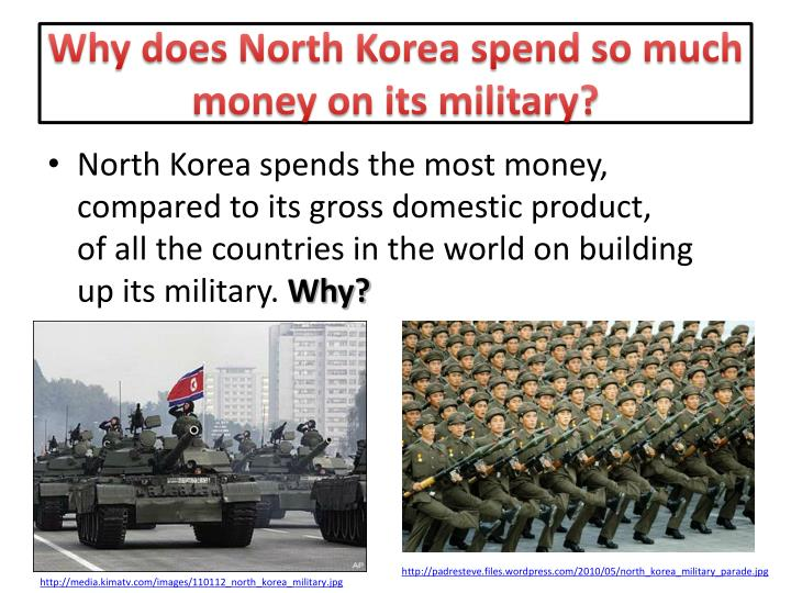 Why does North Korea spend so much money on its military?