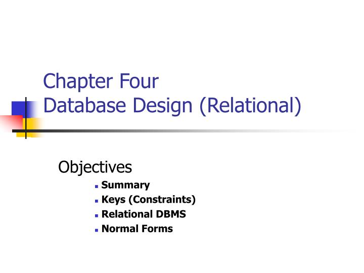 relational database summary 2 agenda 1 session overview 5 summary and conclusion 2 er and eer to relational mapping 3 database design methodology and uml 4 mapping relational design to er/eer case study.