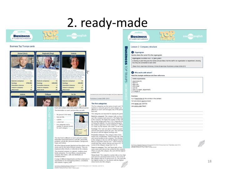 2. ready-made