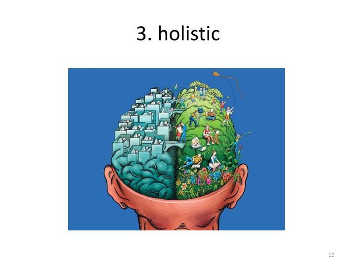 3. holistic