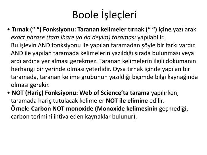 Boole İşleçleri