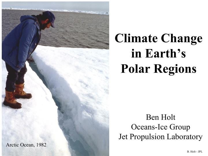Climate change in earth s polar regions