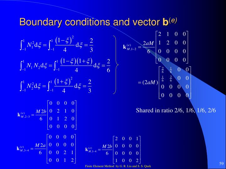 Boundary conditions and vector