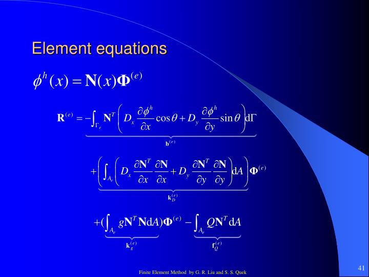 Element equations