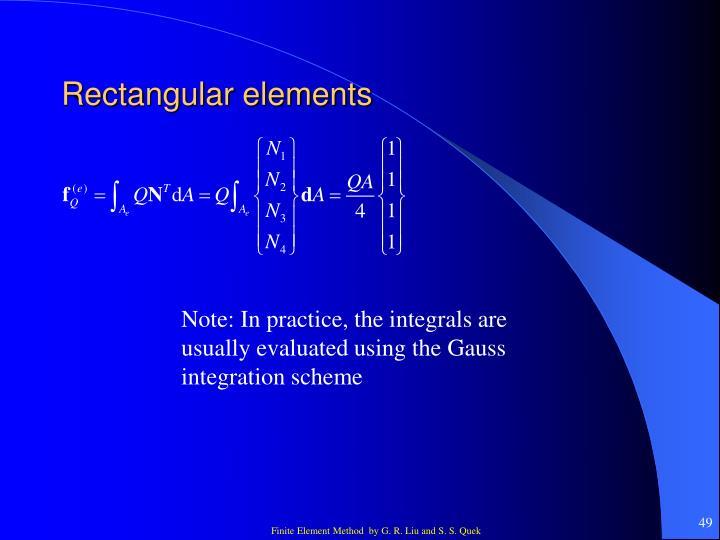 Rectangular elements