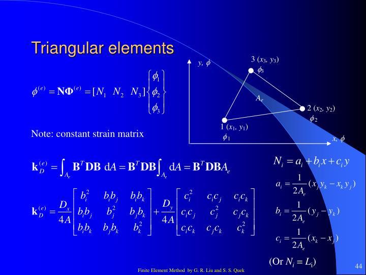 Triangular elements