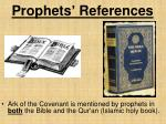 prophets references