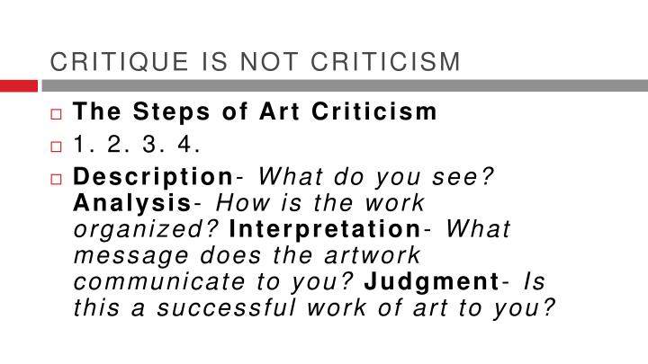 Critique is not criticism