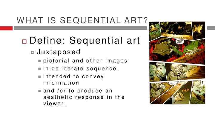 What is sequential art?