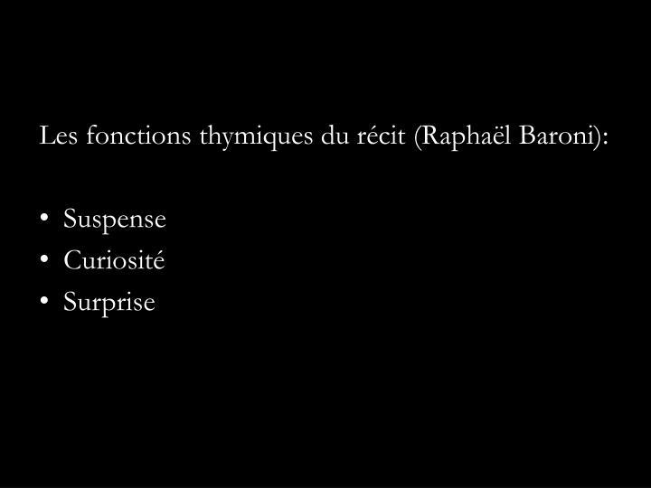 Les fonctions thymiques du récit (Raphaël