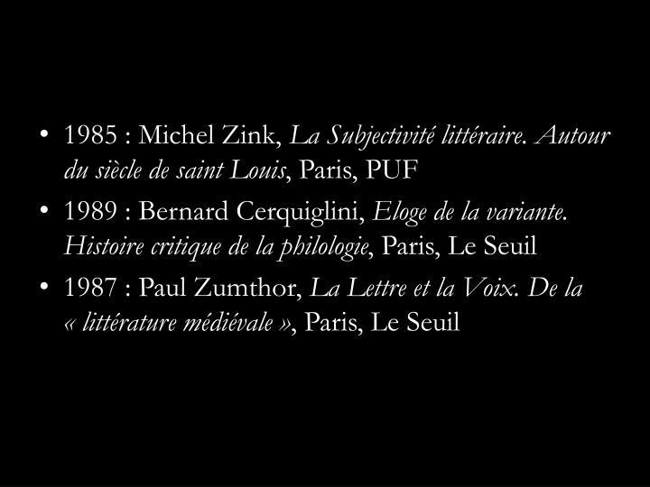 1985 : Michel