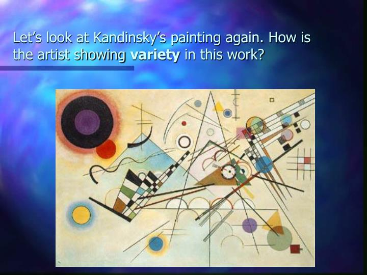 Let's look at Kandinsky's painting again. How is the artist showing