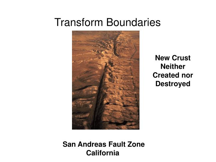 Transform Boundaries