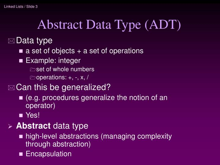Abstract data type adt