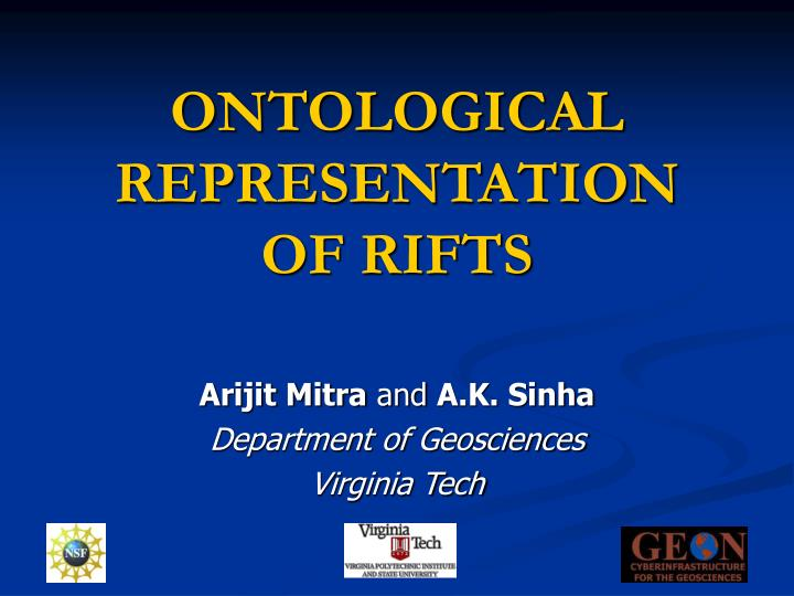 Ontological representation of rifts