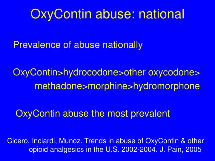 OxyContin abuse: national