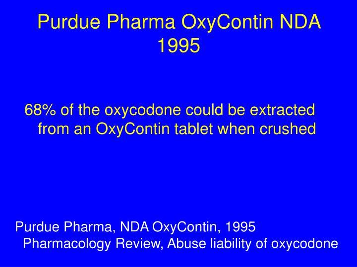 Purdue Pharma OxyContin NDA 1995