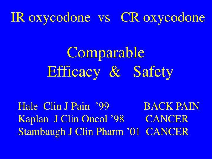 IR oxycodone  vs   CR oxycodone