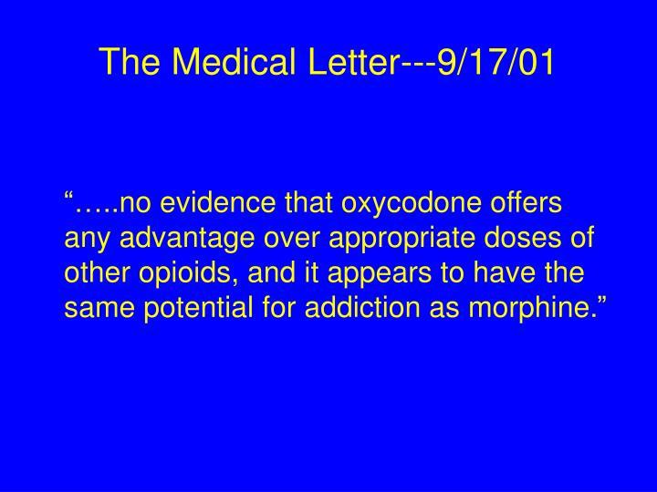 The Medical Letter---9/17/01