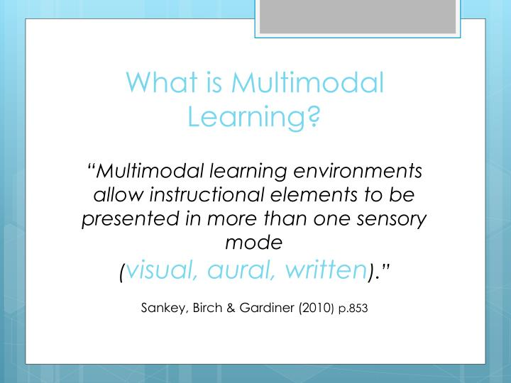 What is multimodal learning