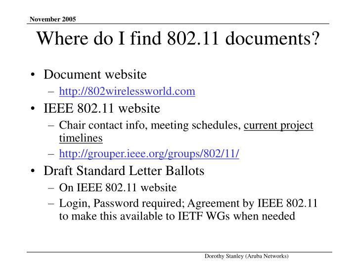 Document website