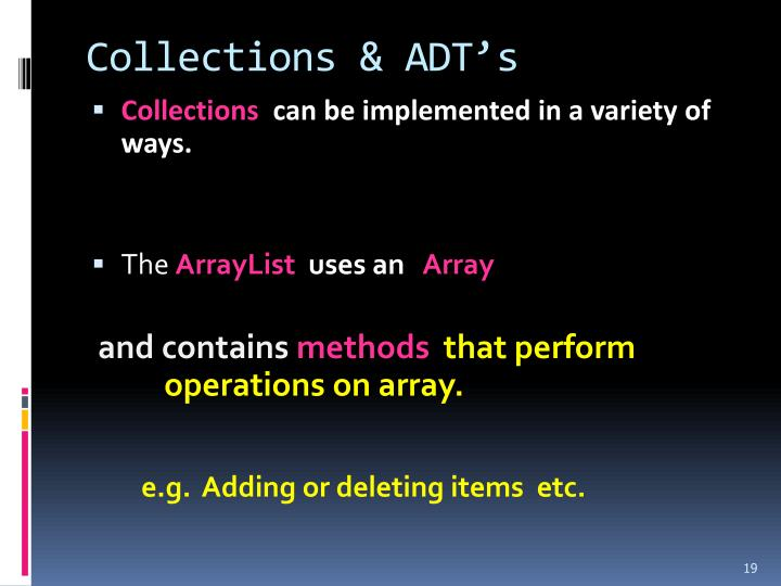 Collections & ADT's