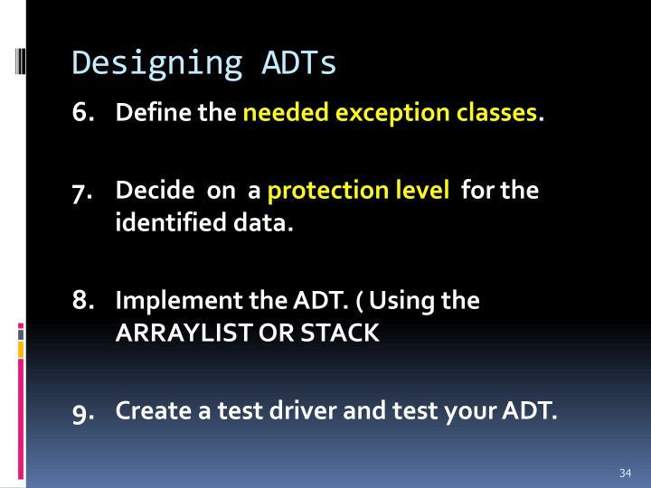 Designing ADTs