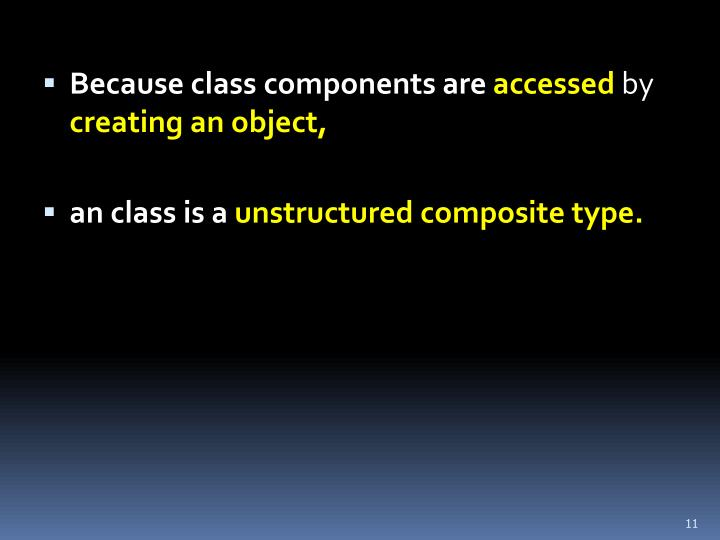 Because class components are