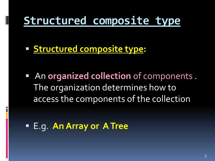 Structured composite type