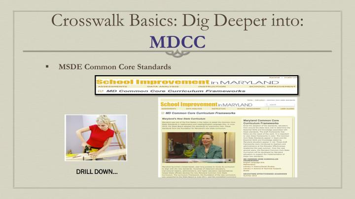 Crosswalk Basics: Dig Deeper into: