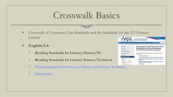 Crosswalk Basics