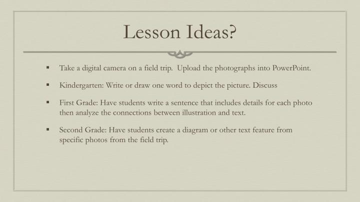 Lesson Ideas?